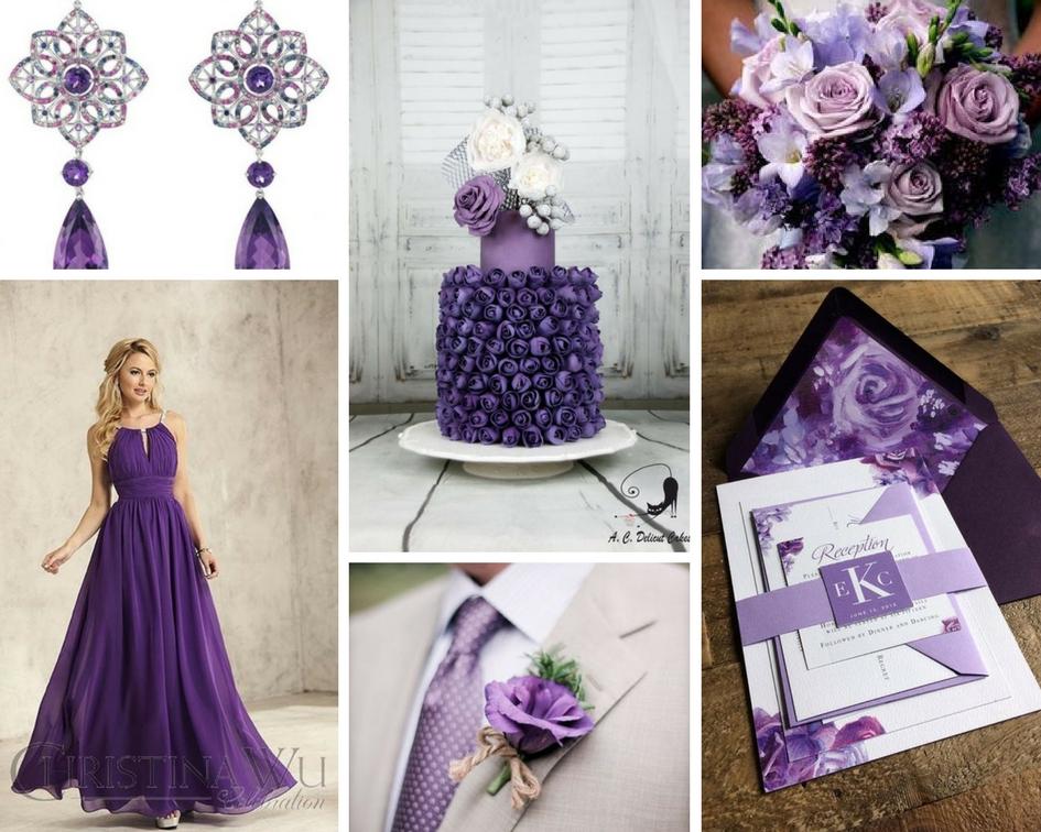 nunta violet, tort violet, invitatie violet