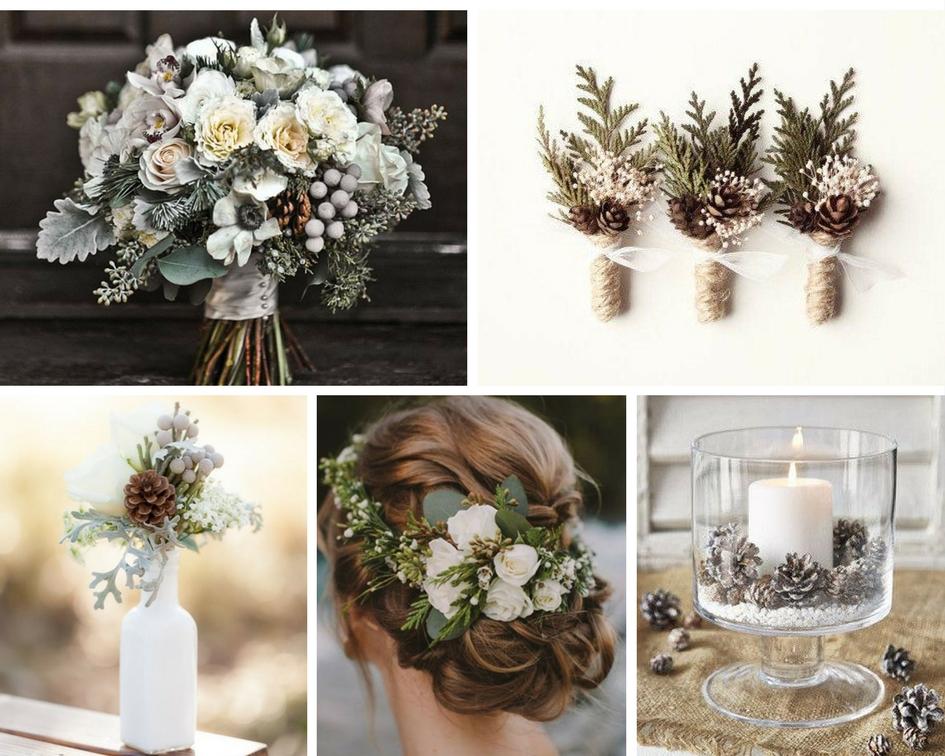 nunta iarna, nunta eleganta, conuri brad