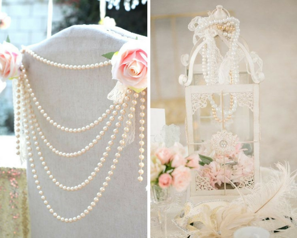 nunta perle, decor perle
