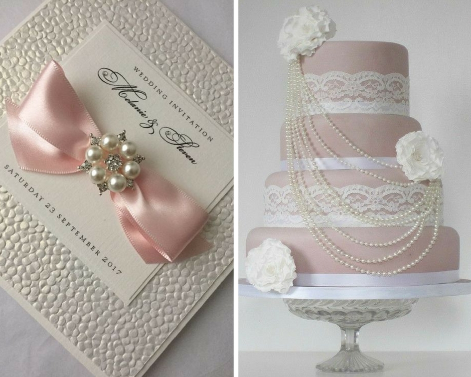 nunta perle, tort perle, invitatie perle