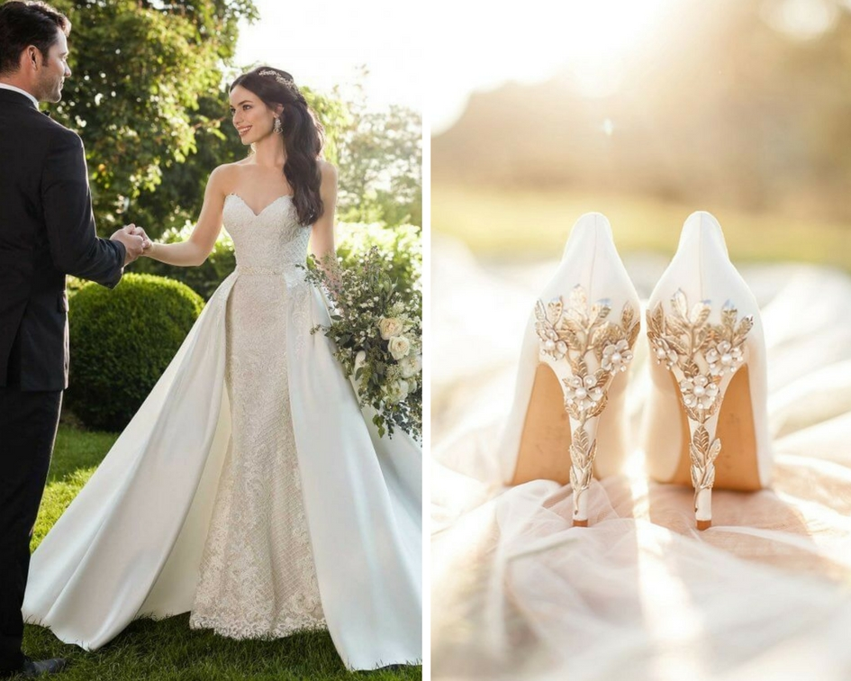 nunta eleganta, pantofi, rochie mireasa
