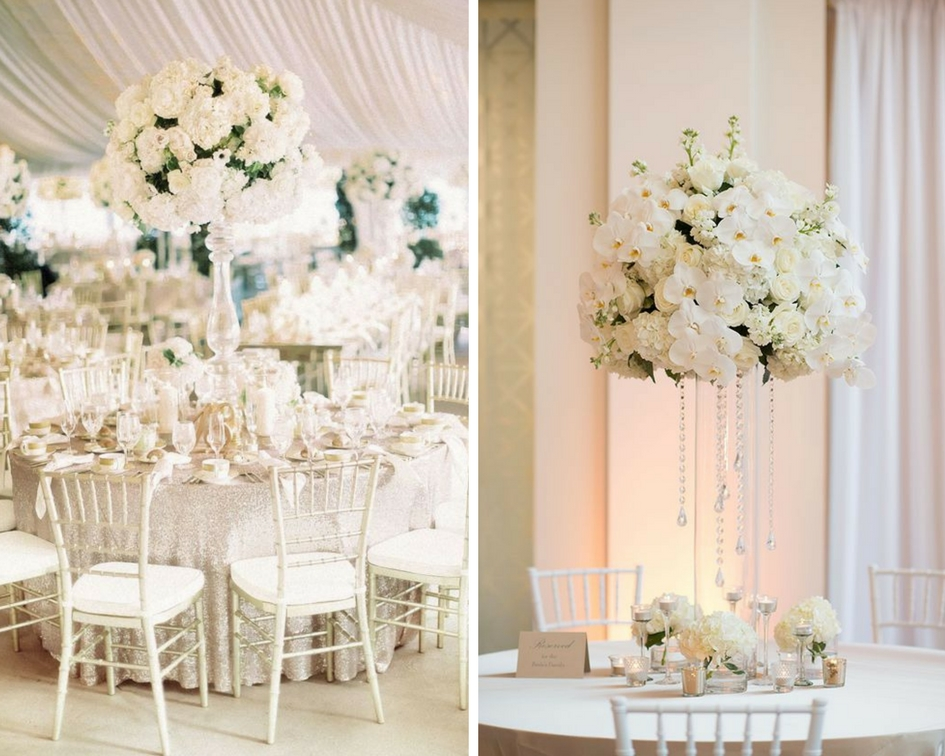 nunta eleganta, aranjamente flori