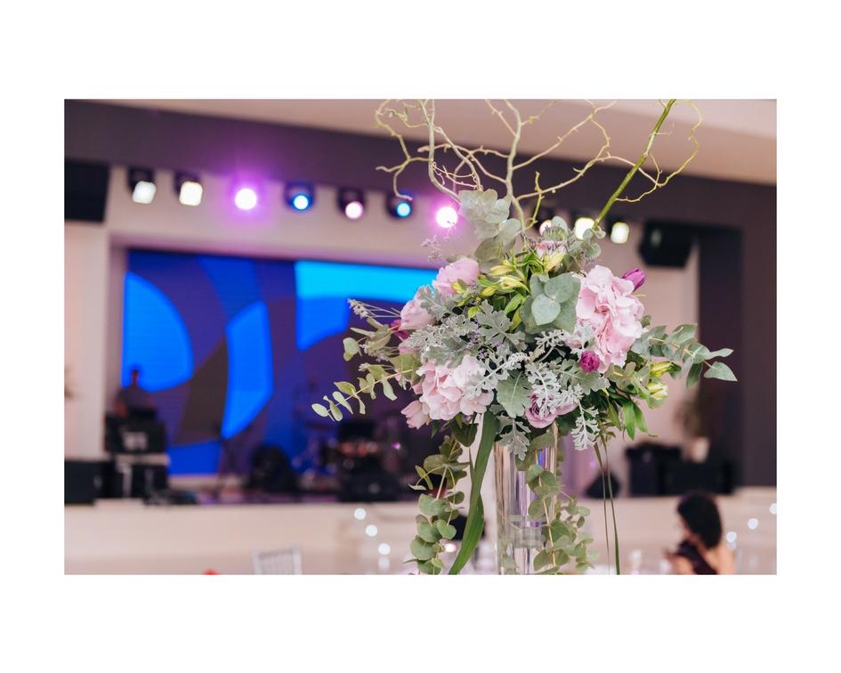 aranjament nunta lila
