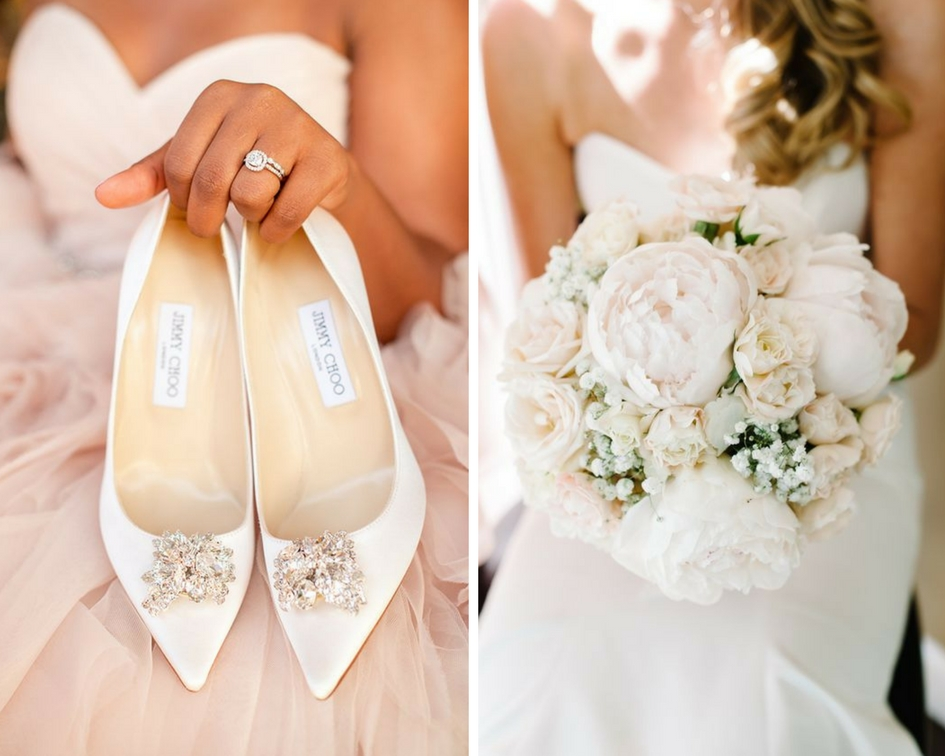 nunta eleganta, pantofi nunta, buchet mireasa