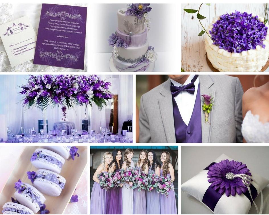 nunta violet, flori violet, nunta mov