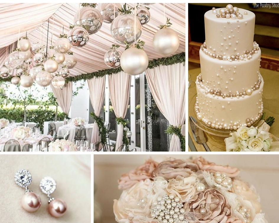 nunta perle, buchet perle, tort perle, decor perle