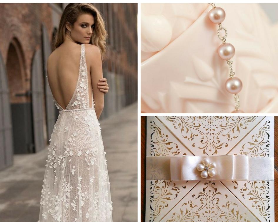 nunta perle, decor perle, invitatie perle