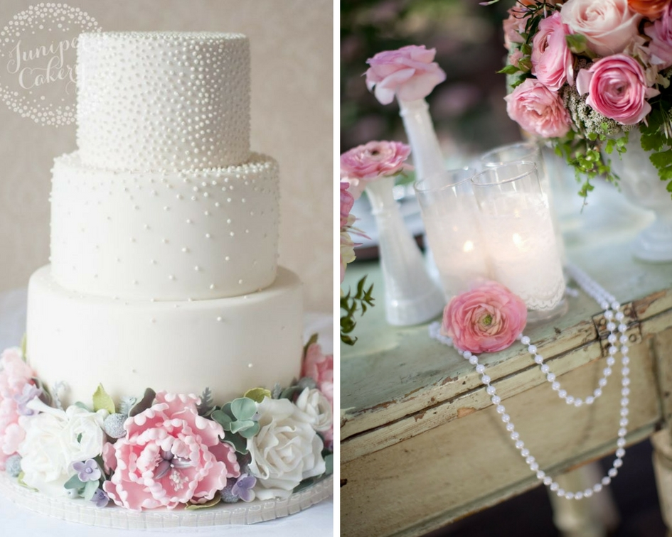 nunta perle, tort perle, decor perle