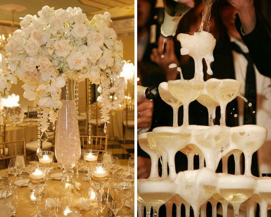 nunta elegant, aranjament elegant